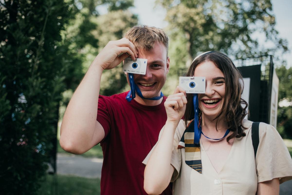 Mlady pár na Letní filmové škole